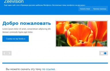 zeeVision - русская тема wordpress